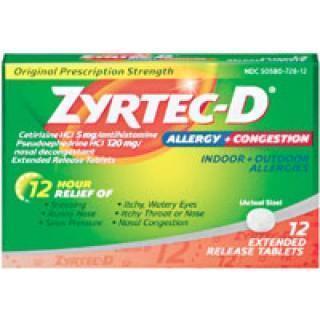 Zyrtec-D Tablet 24/Pk 24 PK/CA