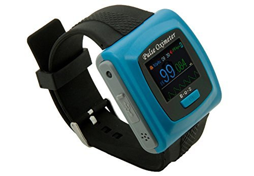 1-Wrist-SpO2-Pulse-Oximeter-Oxygen-Monitor-with-Colored-OLED-Graphic-Display-SnugFit-probe-Built-in-Alarms-for-SpO2-and-Pulse-Rate-Built-in-Memory-for-up-to-24hrs-of-Data-Storage-256k-color-OLED-displ-0-0