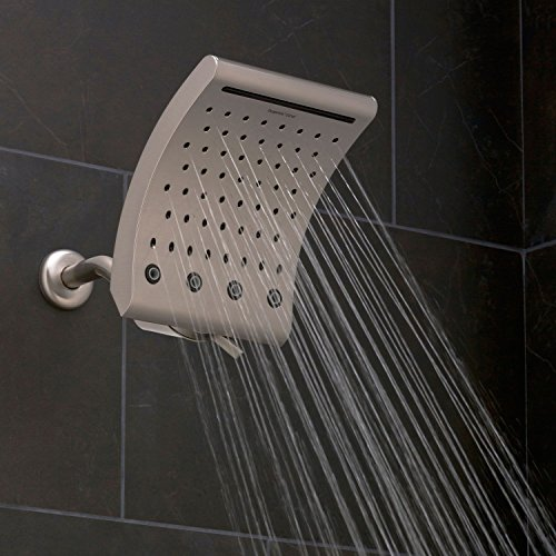 3-Setting-Brushed-Nickel-Rain-Shower-System-Easy-clean-nozzles-0