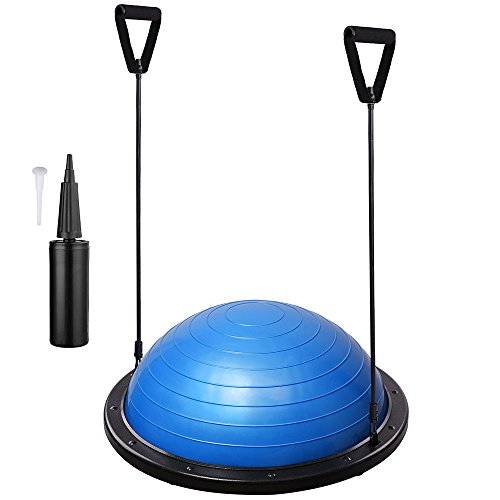 AW-Yoga-Balance-Ball-w-2-Elastic-Strings-Fitness-Strength-Exercise-Ball-Balance-Trainer-0