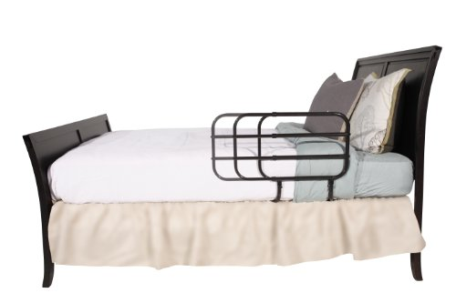 Able-Life-Bedside-Extend-A-Rail-Adjustable-Length-Home-Bed-Rail-and-Stand-Suppor-Handle-Included-Safety-Strap-0-1