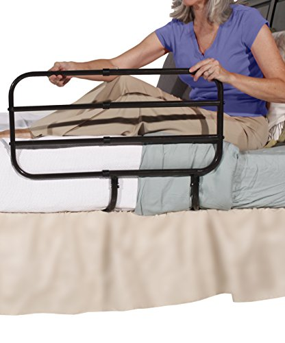 Able-Life-Bedside-Extend-A-Rail-Adjustable-Length-Home-Bed-Rail-and-Stand-Suppor-Handle-Included-Safety-Strap-0