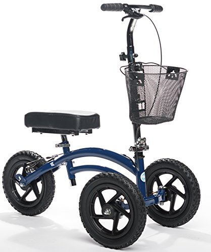 All-Terrain-KneeRover-Steerable-Knee-Scooter-Knee-Walker-Heavy-Duty-Crutches-Alternative-in-Blue-0