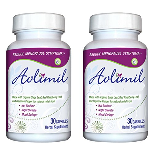 Avlimil Natural Menopause Supplement Pills   Balance Hormones, Ease Hot  Flashes, Sweating, Mood Swings – Genistein Isoflavones, Black Cohosh,