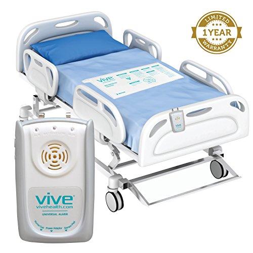 Bed-Alarm-Sensor-Pad-by-Vive-Includes-Alarm-Pressure-Sensor-Pad-Best-Long-Term-Monitor-For-Elderly-Seniors-or-Bedridden-Medical-Fall-Alert-System-1-Year-Warranty-0