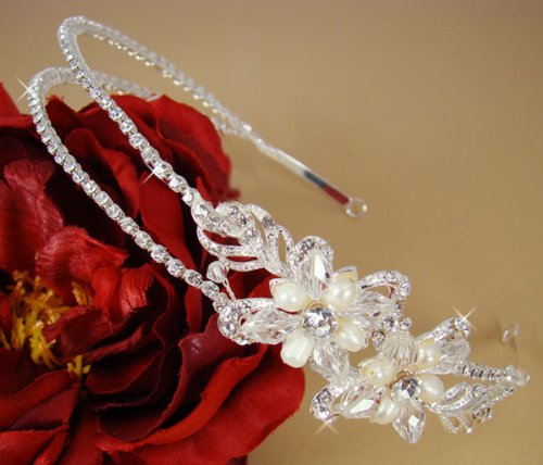 Bridal-Headband-Wedding-Tiara-Floral-Rhinestone-233-0