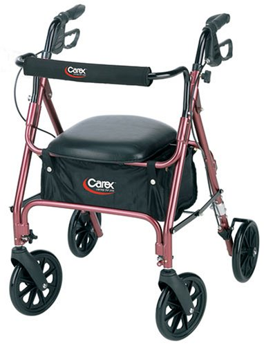 Carex-Rolling-Walker-Rollator-with-Padded-Seat-and-Backrest-0