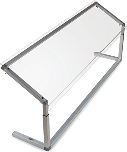 Carlisle-926007-Acrylic-Adjustable-Single-Sided-Sneeze-Guard-with-Aluminum-Frame-6025-Length-x-1244-Depth-Clear-0