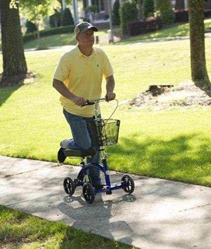 Deluxe-Steerable-Knee-Walker-Knee-Scooter-Knee-Cycle-Leg-Walker-Crutch-Alternative-in-Blue-0-1