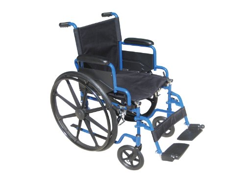 Drive-Medical-Blue-Streak-Wheelchair-with-Flip-Back-Desk-Arms-and-Elevating-Leg-Rests-0