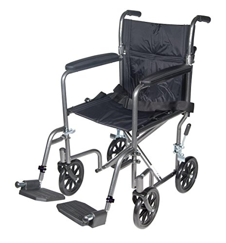 Drive-Medical-Lightweight-Steel-Transport-Wheelchair-Silver-Vein-0