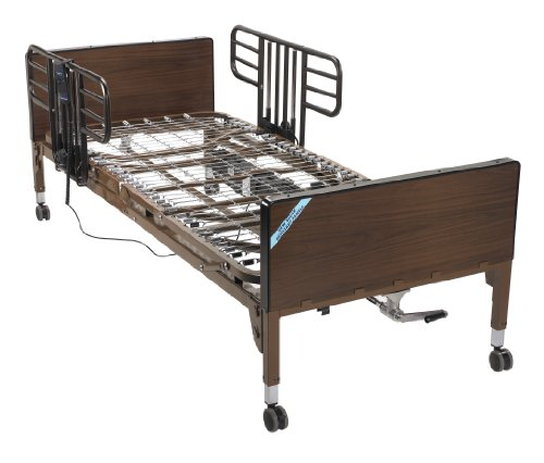Drive-Medical-No-Gap-Deluxe-Half-Length-Side-Bed-Rails-with-Brown-Vein-Finish-Brown-Vein-Half-Length-0-1