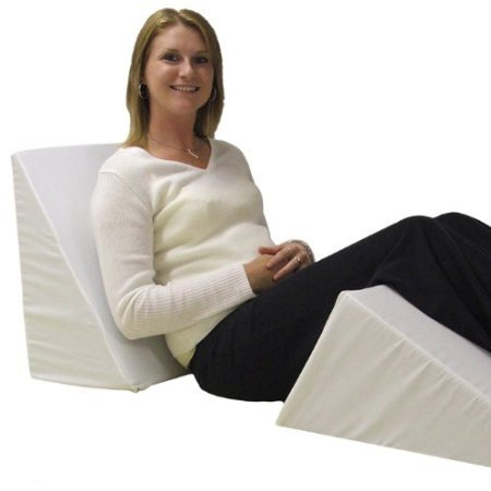 Eva-Medical-Wedge-Bed-Pillow-22-x-22-x-11-with-white-pillow-cover-MADE-IN-USA-0-0