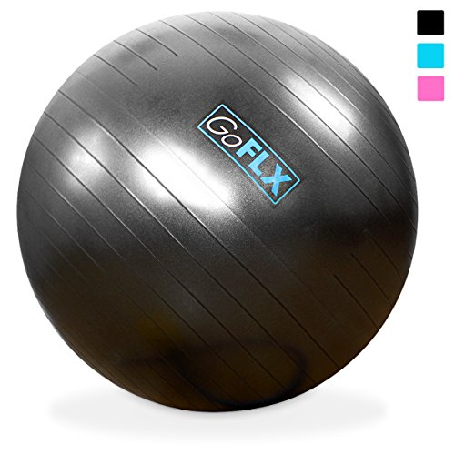 Exercise-Ball-GoFLX-55cm-65cm-75cm-Yoga-Birthing-Stability-Swiss-Ball-with-Pump-200kg-440lbs-Weight-Capacity-0