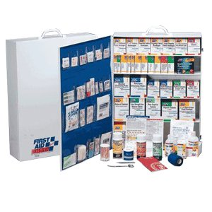 First-Aid-Only-5-Shelf-Industrial-First-Aid-Station-with-Pocket-Liner-for-200-Plus-Person-0