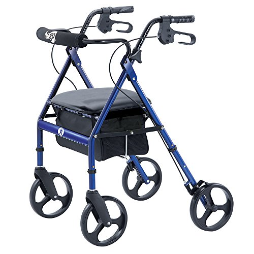 Hugo-Portable-Rollator-Walker-with-Seat-Backrest-and-8-Inch-Wheels-Blue-0