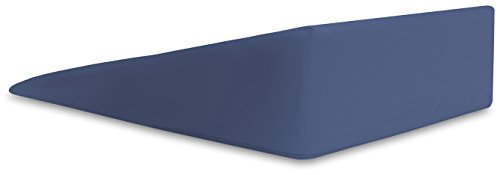 InteVision-Extra-Large-Foam-Wedge-Bed-Pillow-33-x-305-x-75-Color-Blue-with-High-Quality-400-Thread-Count-100-Egyptian-Cotton-Cover-0-1
