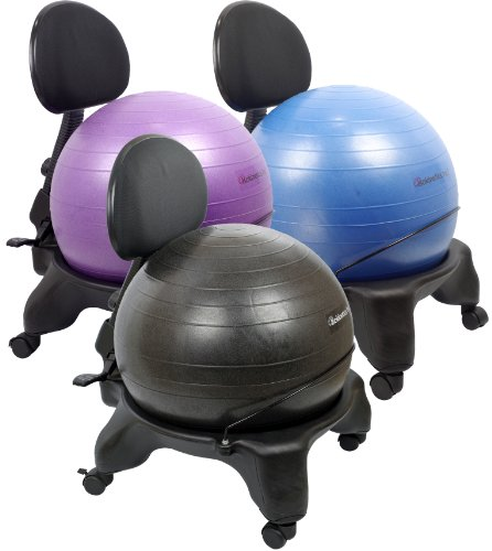 Isokinetics-Inc-Brand-Adjustable-Back-Exercise-Ball-Chair-Choice-of-Ball-Colors-Exclusive-Office-size-60mm25-wheels-versus-50mm2-wheels-used-on-other-brands-wExercise-Ball-Measuring-Tape-Starter-Pump-0-0