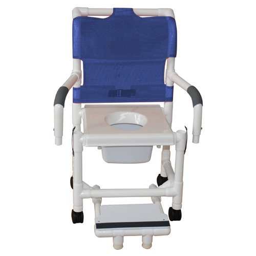 MJM-International-118-3TW-DDA-SF-SQ-PAIL-Standard-Shower-Chair-with-Drop-Arms-Slide-Out-Footrest-and-Commode-Pail-300-oz-Capacity-405-Height-x-22-Width-x-2525-Depth-Royal-BlueForest-GreenMauve-0