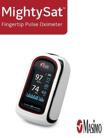Masimo MightySat Fingertip Pulse Oximeter (Bluetooth + Pleth Variability  Index + Respiration Rate)