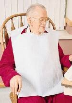 McKesson-Bib-Adult-16X24-With-Pocket-Clothing-Protector-White-Case-of-500-Model-18-962-0