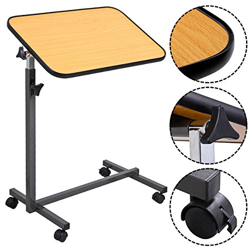 MedMobile-Tilt-Top-Overbed-Table-with-Laminated-Tall-Edged-Table-Top-0