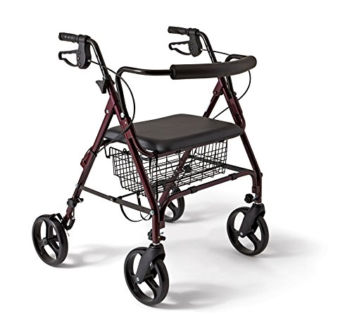 Medline-Bariatric-Rollator-WalkerSeat-400-lb-Capacity-0
