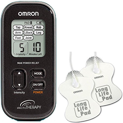Omron-Large-Electrotherapy-Max-Power-Pain-Relief-Unit-PM3032-with-Long-Life-Large-3-5-x-4-inch-Size-Pads-0
