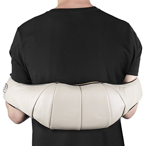 Shiatsu-Kneading-Neck-Shoulder-Body-Massager-with-Heat-Durable-Arm-Straps-Offers-Total-Relief-from-Back-Pains-Perfect-for-Home-Office-Cars-Free-Car-Adapter-Supreme-Quality-Portable-0-1