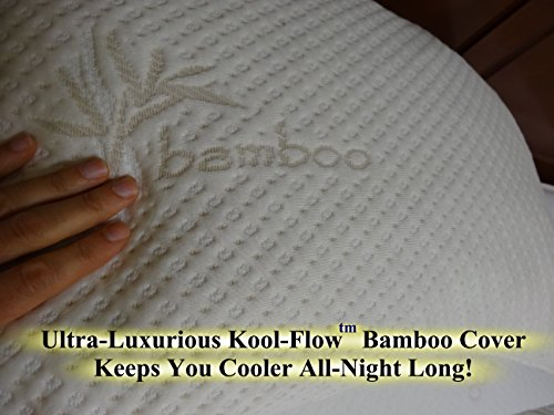 Snuggle-Pedic-Ultra-Luxury-Bamboo-Shredded-Memory-Foam-Pillow-Combination-Kool-Flow-Micro-Vented-Cover-Certified-USA-Manufacturer-90-Day-Refund-Free-Exchange-Policy-0-0