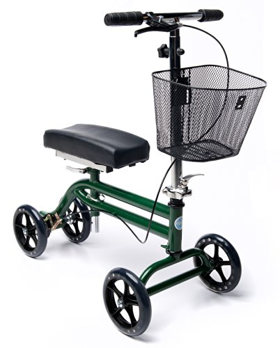 Steerable-Knee-Scooter-Knee-Walker-Turning-Leg-Walker-Crutches-Alternative-in-Green-0