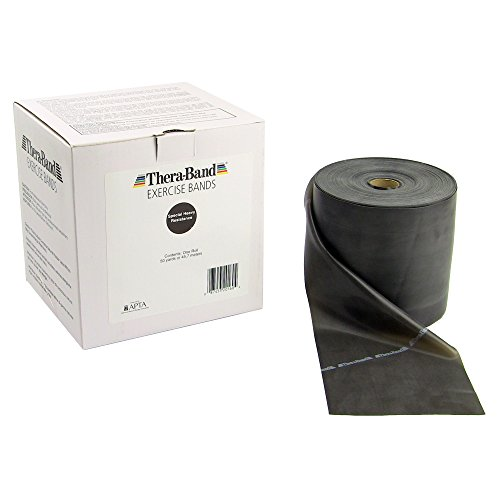 TheraBand-Professional-Latex-Resistance-Bands-For-Rehabilitation-Portable-Fitness-and-Workout-Home-Exercise-50-Yard-Roll-Black-Special-Heavy-Advanced-Level-1-0