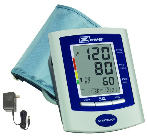 Zewa-UAM-880UA-Deluxe-Automatic-Blood-Pressure-Monitor-With-Universal-Cuff-87-Inch-To-189-Inch-and-AC-Adaptor-0