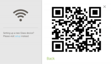QR Code Containing Network Information