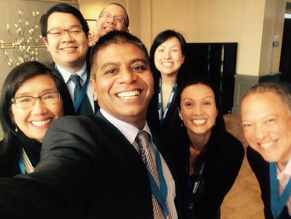 Conference attendees from Kaiser Permanente enjoy iHT2. Photo via @garettng.