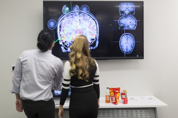 Companies pitch their ideas at NeuroLaunch's Investor Demo Day. Photo provided.