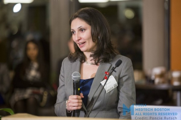 "The ""First Class"" award was given to Lilit Sargsyan, a pulmonary and critical care fellow at the University of Texas Health Science Center in Houston, for her pitch ""RemoteGuide."" Photo  by Poncie Rutsch."