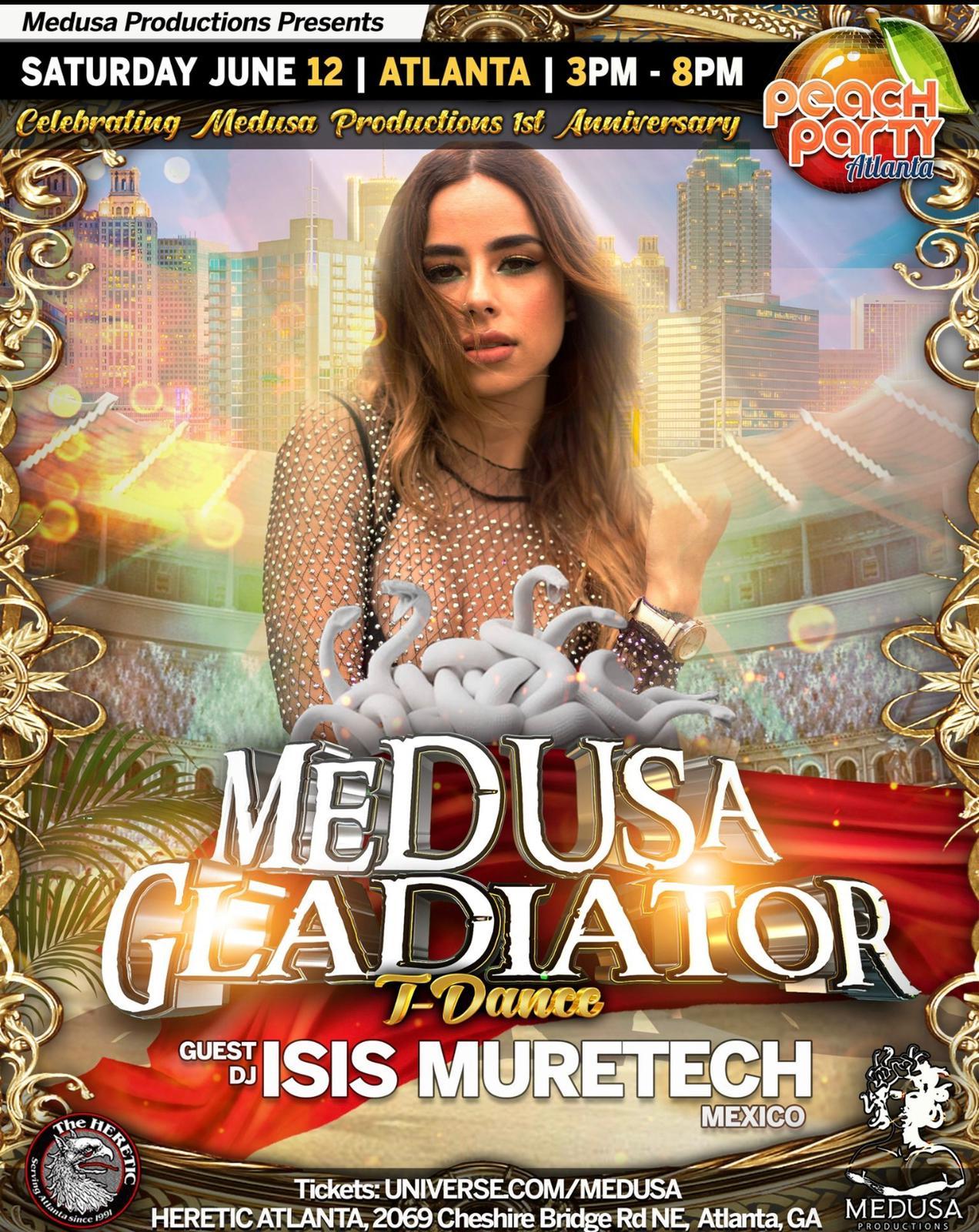 Medusa Gladiator with DJ Isis Muretech