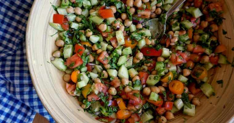 Ātrie turku zirņu salāti