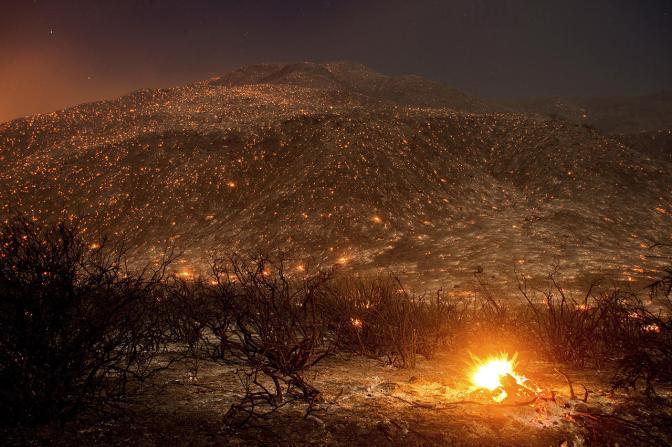 Лесные пожары в Калифорнии, 17 августа Фото: Noah Berger / AP / Scanpix / LETA