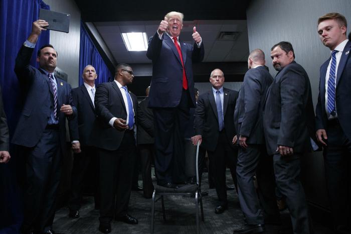 Дональд Трамп во время президентской кампании, 6 сентября Фото: Evan Vucci / AP / Scanpix / LETA