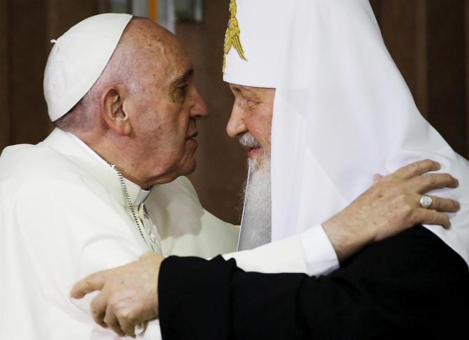 Встреча папы римского Франциска и патриарха Кирилла в Гаване, 12 февраля Фото: Gregorio Borgia / pool / Reuters / Scanpix / LETA