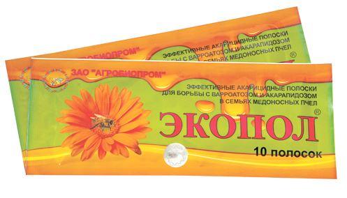 препарат экопол для борьбы с варроатозом и акарапидозом пчел
