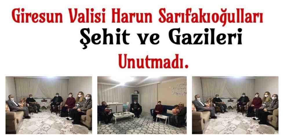 Harun Sarıfakıoğulları Şehit ve Gazi'lerimizi Bayramda Unutmadı.