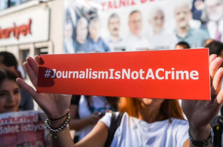 Ninety-two media workers are in prison in Turkey