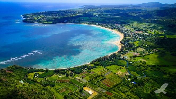 Kauai, Havajské ostrovy  Hanalei Bay