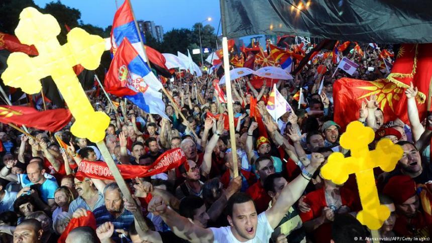 Macedónsko - provládna demonštrácia
