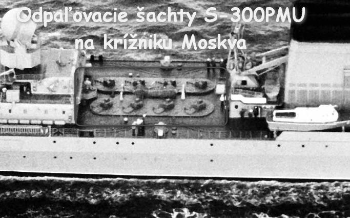 Aerial starboard beam view of the Soviet cruiser SLAVA, first of its class, underway.