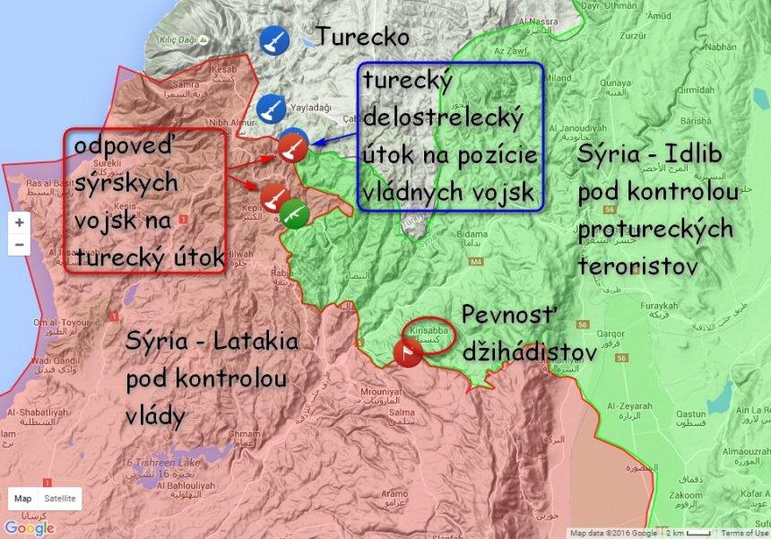 Syria - Ostrelovanie Latakia