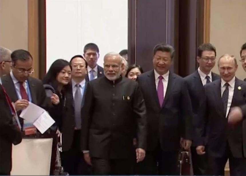 Vchod do miestnosti rokovania G20